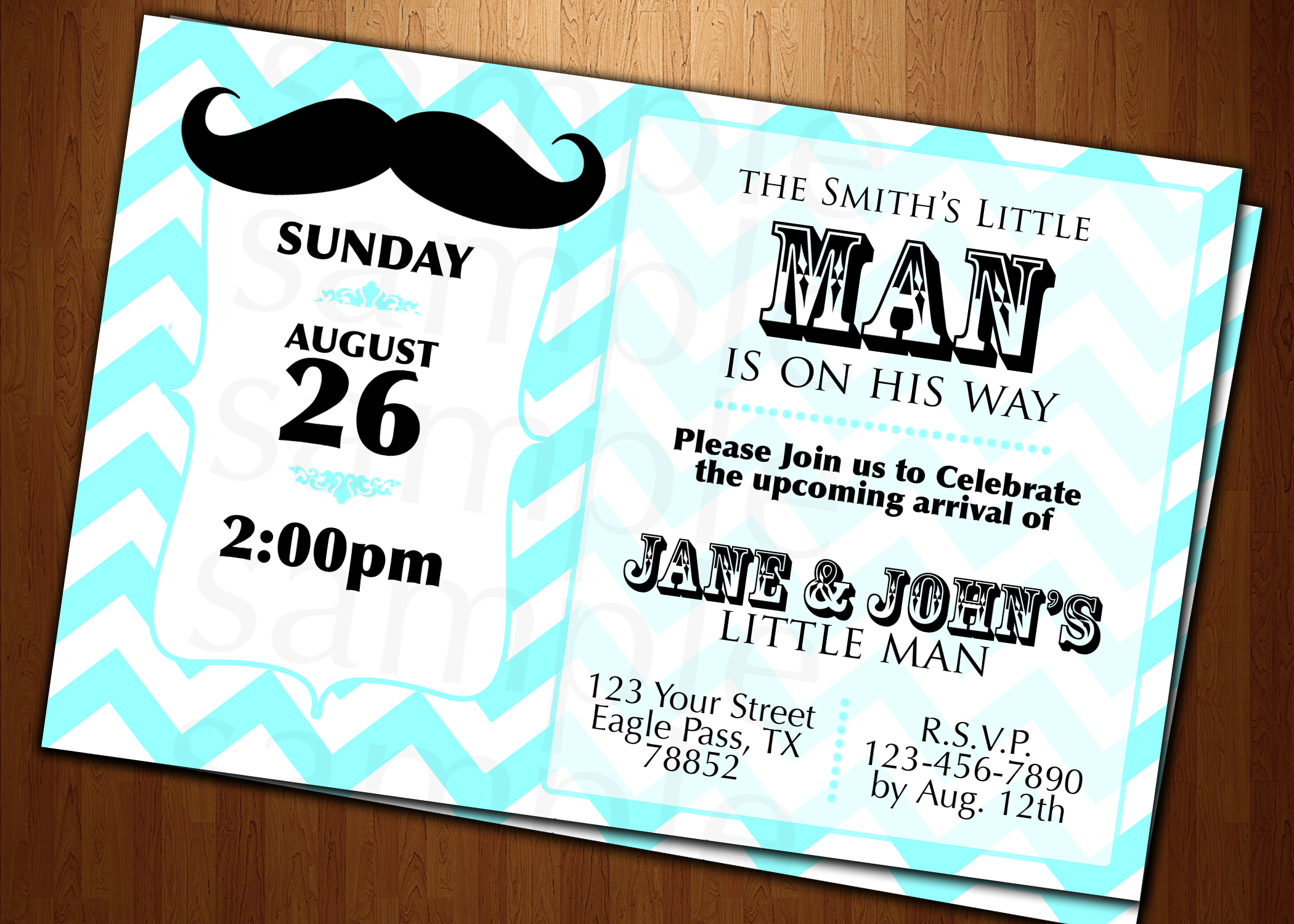baby shower little man mustache invitation cards custom invites party